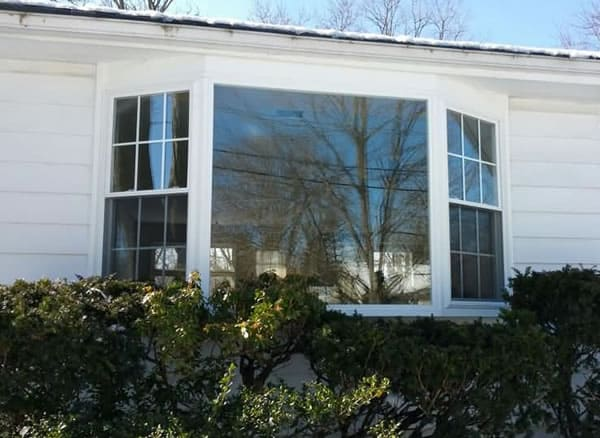 After-Bay window converted to picture window and double hung bay