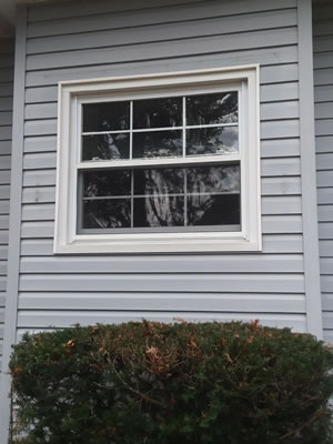 Before-Bay window with two double hung