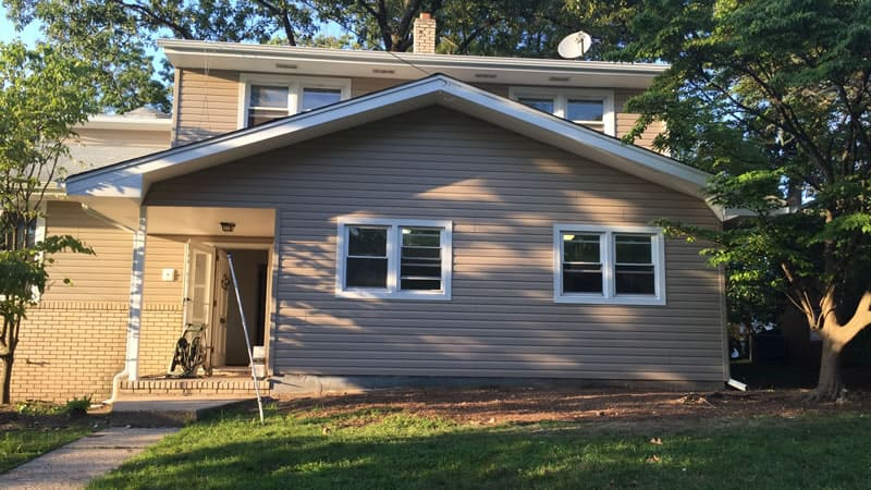 After-New vinyl siding