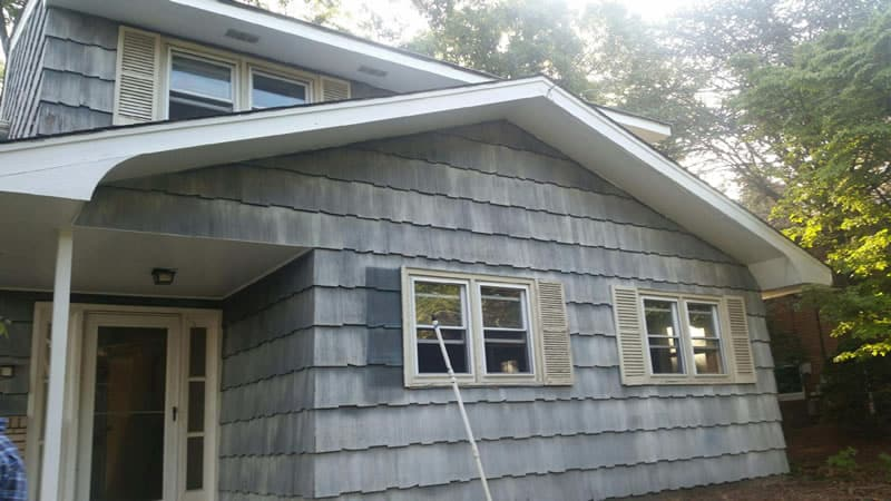 Before-New vinyl siding