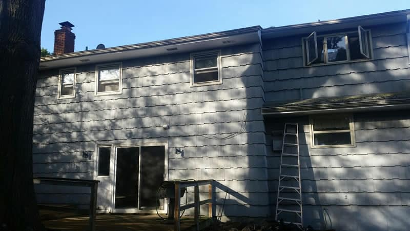 Before-What a difference new vinyl siding makes