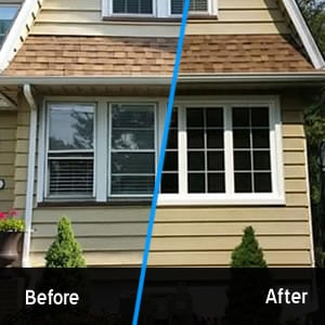 Double hung windows converted to casement windows with grids. Low E glass and argon gas.