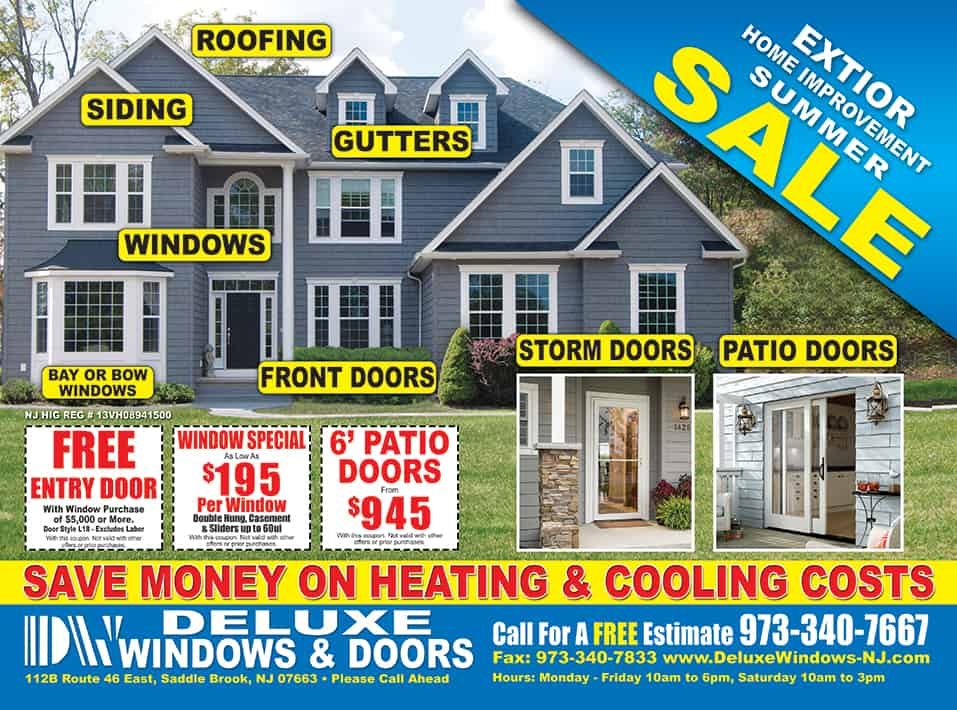 Save money on your next window or door installation by Deluxe Windows